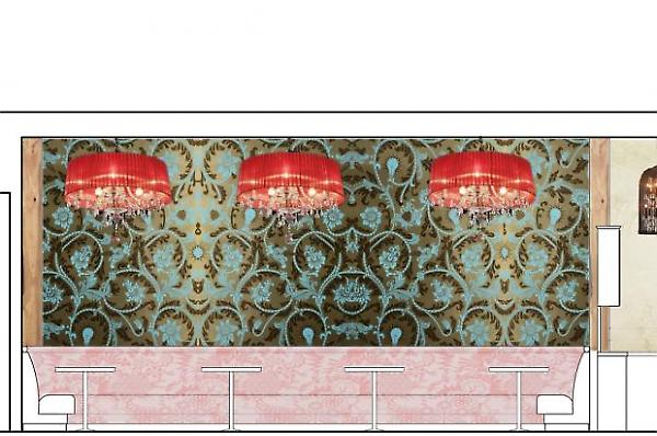 rendering option for seating area