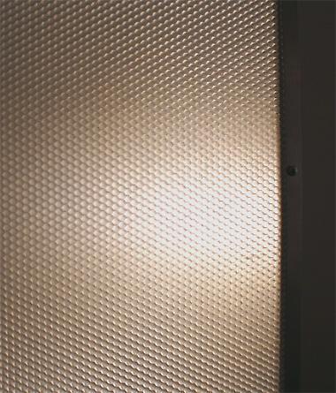 transluscent panel detail