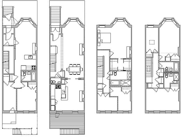 1st Street Brownstone Renovation – Brownstone Floor Plans
